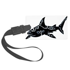 shark_BLACK.png Luggage Tag