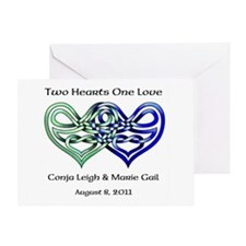Two Hearts Greeting Card