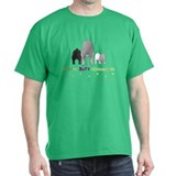 Nothin' Butt Schnauzers Green T-Shirt