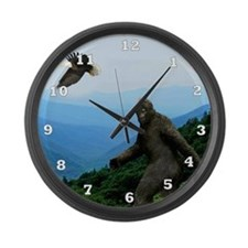 Bigfoot Great Smoky Mountains Large Wall Clock