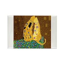 Klimt's Kats Rectangle Magnet