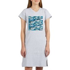 Montauk School of Fish Attack pattern 1 sq Women's