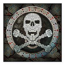 "Celtic Skull & Crossbones Car Magnet 3"" x"