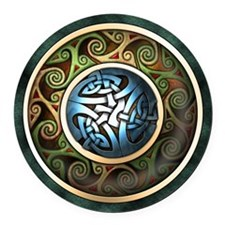 Celtic Knotwork Round Car Magnet