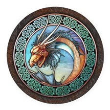 Sea Dragon Round Car Magnet