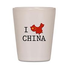 I Heart China Shot Glass