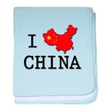 I Heart China baby blanket