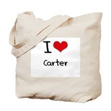 I Love Carter Tote Bag