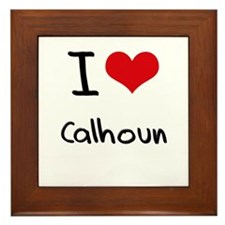 I Love Calhoun Framed Tile