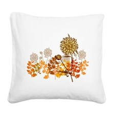 Autumn Crysanthemum Square Canvas Pillow