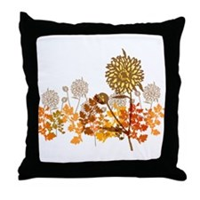 Autumn Crysanthemum Throw Pillow