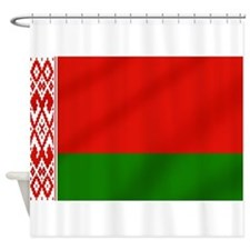 Flag of Belarus Shower Curtain
