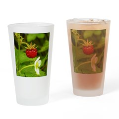 Wild Strawberry Drinking Glass