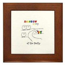 Rainbow Sheep of the Family Framed Tile