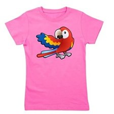 Red Parrot Girl's Tee