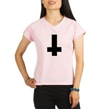 Upside Down Cross Peformance Dry T-Shirt