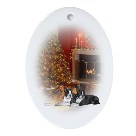 Boston Terrier Oval Ornament