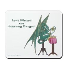 Melton the Stitching Dragon Mousepad
