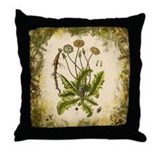 Vintage Dandelion Throw Pillow