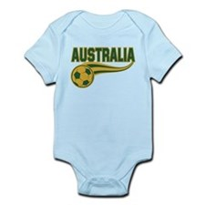 Soccer ball with the word Australia Body Suit