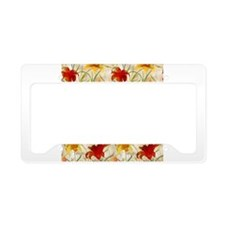 Painted Lilies License Plate Holder