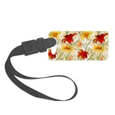 Painted Lilies Luggage Tag