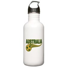 Soccer ball with the word Australia Water Bottle