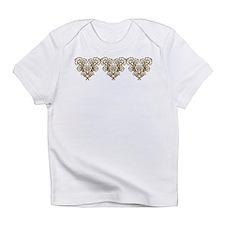 Art Nouveau Flower Hearts Infant T-Shirt