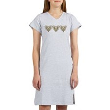 Art Nouveau Flower Hearts Women's Nightshirt