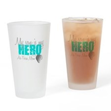 AF Mom Son is my Hero Drinking Glass