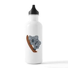 Two Koalas Water Bottle