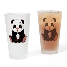 Cute Baby Panda Drinking Glass