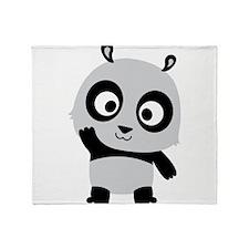 Waving Panda Throw Blanket