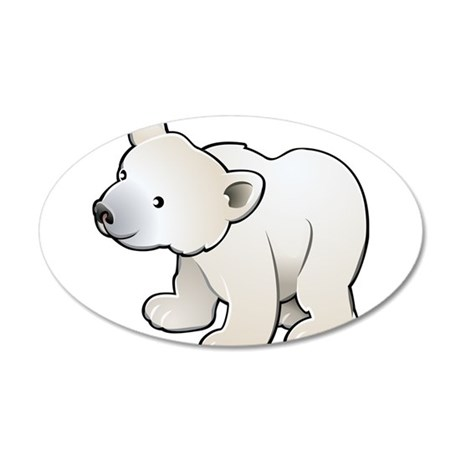 Gray Baby Polar Bear Wall Decal