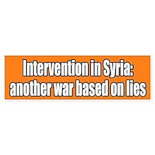 Syria War Lies Bumper Bumper Sticker