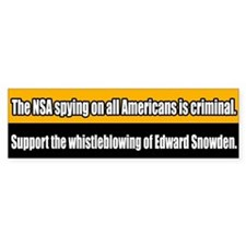 Support Edward Snowden Bumper Bumper Sticker