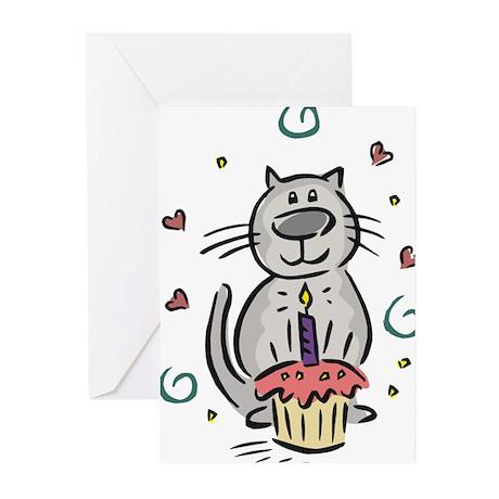 BIRTHDAY KITTY [2] Greeting Cards (Pk of 10)