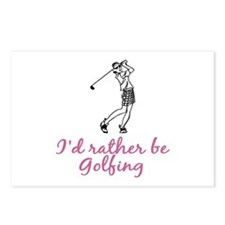 I'd rather be golfing Postcards (Package of 8)