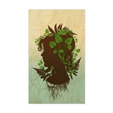 Leaf And Vine Woman Decal