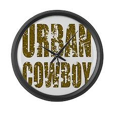Urban Cowboy Large Wall Clock