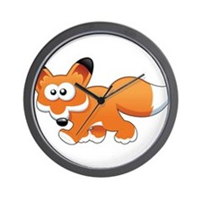 Cartoon Fox Wall Clock
