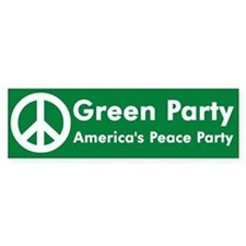 Green Party Peace Sign Bumper Bumper Sticker