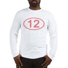 Number 12 Oval Long Sleeve T-Shirt