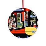 Salina Kansas Greetings Ornament (Round)
