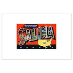 Salina Kansas Greetings Large Poster