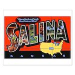 Salina Kansas Greetings Small Poster