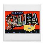 Salina Kansas Greetings Tile Coaster