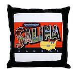 Salina Kansas Greetings Throw Pillow