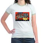 Salina Kansas Greetings (Front) Jr. Ringer T-Shirt