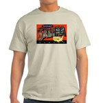 Salina Kansas Greetings (Front) Ash Grey T-Shirt